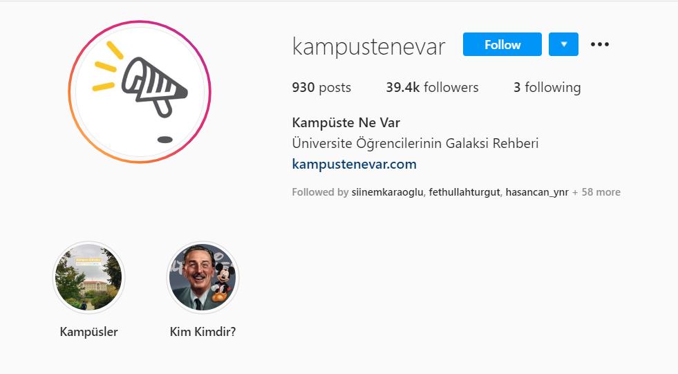 Instagram ile kişisel gelişmi üniversite okumak